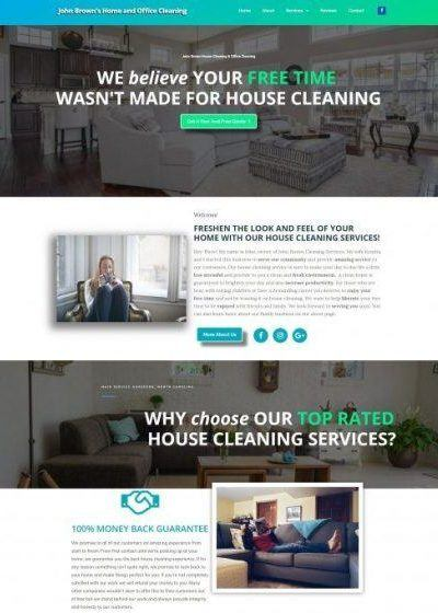 WEB DESIGN HOUSE CLEANING