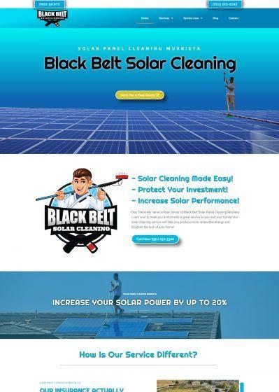 web design solar cleaning